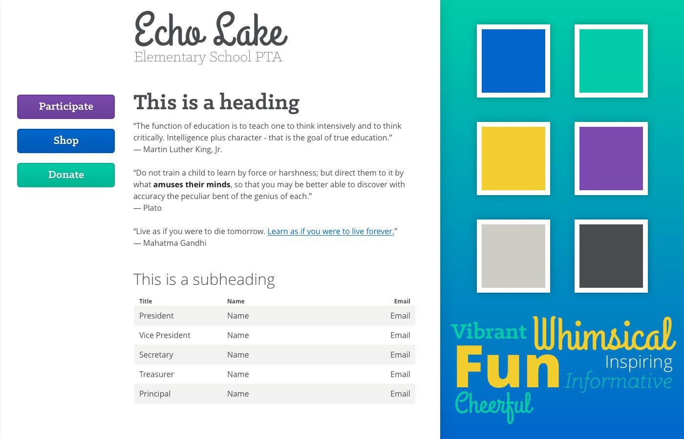 echo lake elementary pta portfolio stegrainer com