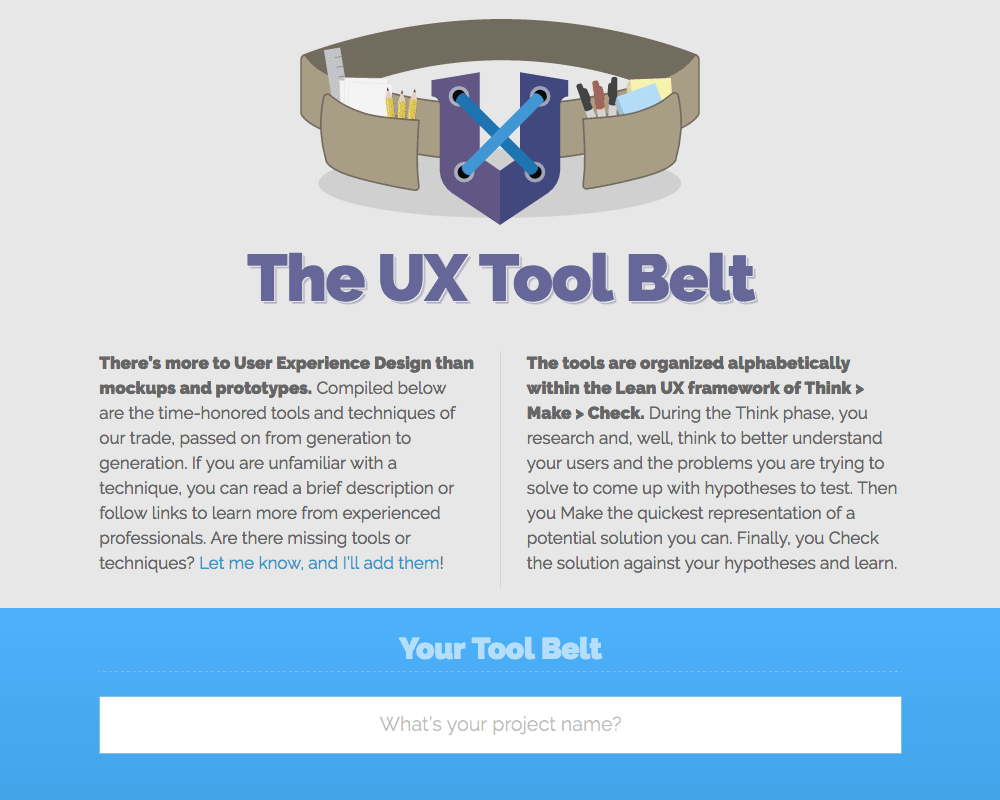 The UX Tool Belt