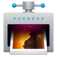 The ImageOptim app icon - a cross between a printer and a vice