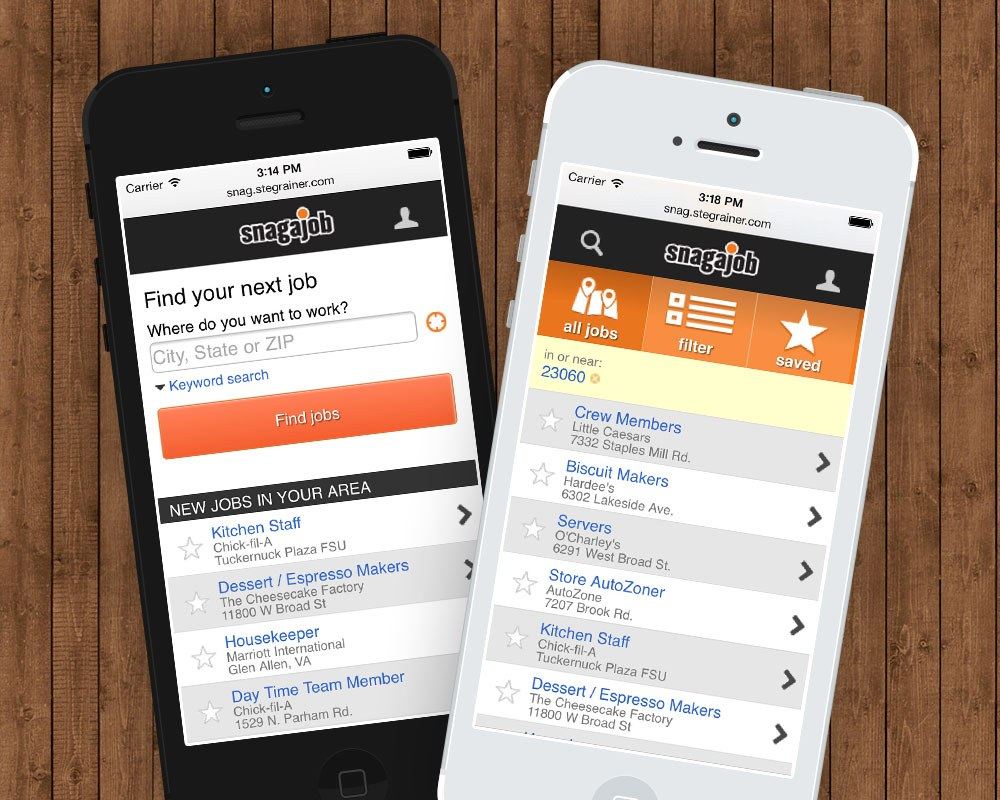 snagajob mobile portfolio com hourly job seekers often start their job search in a specific location