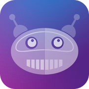Icon: A smiling robot super-imposed over a purple, blue, and pink gradient.