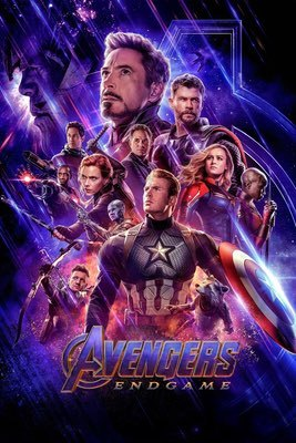 Movies: Avengers: Endgame by Joe & Anthony Russo.
